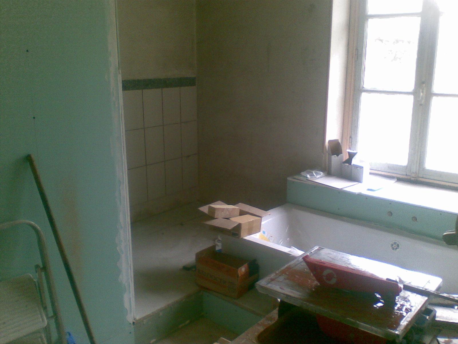 Rénovation maison briarde: création d'une salle de bain