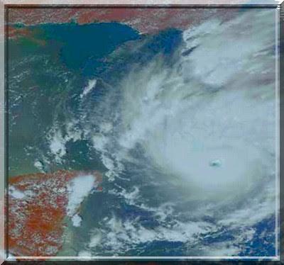 Hurrikan Gustav, 31. August 2008, Hurrikansaison 2008, Hurricane, Sturm, storm, tormenta, Zyklon, Mexiko, Mexico, Tropische Depression, Sturm, Prognose, Zugbahn, Pazifik, Atlantik, forecast, Vorhersage, Satellitenbild
