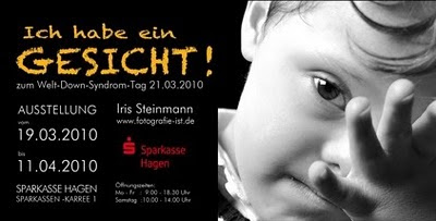 ICH HABE EIN GESICHT - Fotografin Iris Steinmann stellt aus, Baby, Behinderung Handicap, Deutschland, deutsch, Down Syndrom, Down-Syndrome, Extrachromosom, Fotos, Kind, Kunst Fotografie, Trisomie 21, 2 Juli 2010 in Meerbusch Büderich