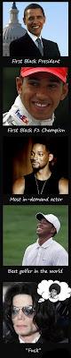 Michael Jackson, Barack Obama, Tiger Woods, Will Smith, Parodie