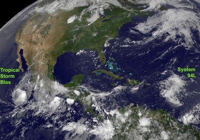 Pazifik aktuell: Tropischer Sturm BLAS, 2010, aktuell, Blas, Hurrikan Satellitenbilder, Hurrikanfotos, Hurrikansaison 2010, Pazifik, Sturm, Vorhersage Forecast Prognose,