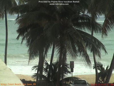 Live Webcam Puerto Rico, King's Court Beach, San Juan (Sturm / Hurrikan EARL), Live Webcam, Puerto Rico, 2010, aktuell, Atlantik, Karibik, Hurrikanfotos, Earl, Hurrikansaison 2010,