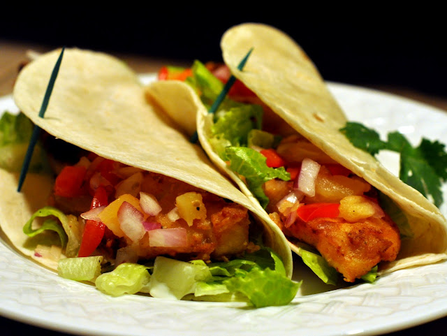 The beer cook hefeweizen battered fish tacos with for Fish taco batter