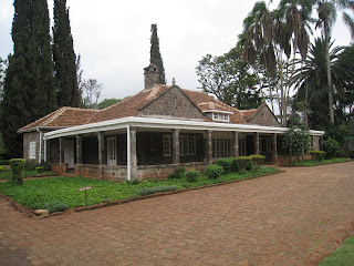Isak Dinesens Home, nairobi kenya, front entrance of out of africa house