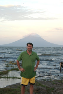 michael hodson at edge of ometepe island