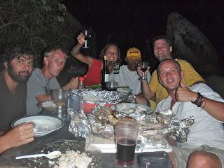 eating dinner on san blas islands with kuna tribe