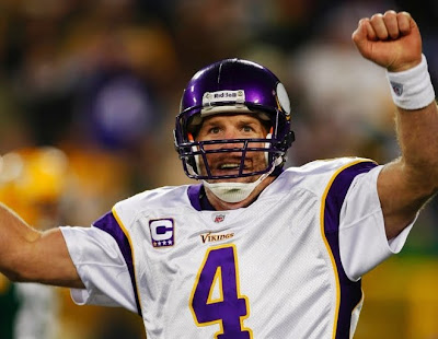 brett favre vikings celebrating. Quarterback Brett Favre #4 of