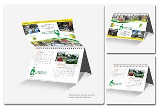 Kalender Meja Mini HardBoard 10x15 cm - Cetak Kalender Meja 2014