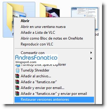 Como restaurar archivos o carpetas  borrados windows 7