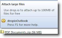 enviar archivos de gran tamaño por email