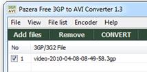 Convertir .3 gp y .3 g2 a AVI o MPEG gratis