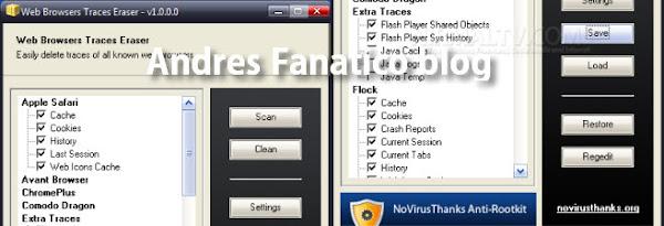 Programa para Eliminar rastros de navegación web y Windows