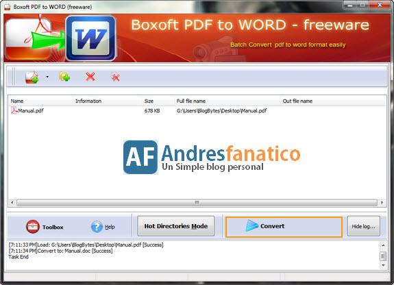 descargar programa para convertir pdf a word