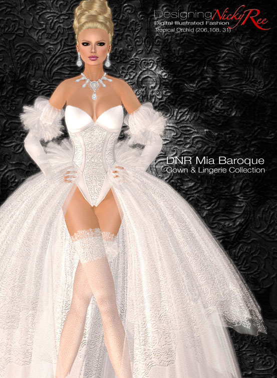 Designing Nicky Ree: New Mia Baroque Gown & Lingerie Collection