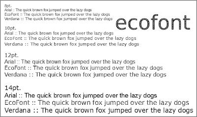 Ecofont Example