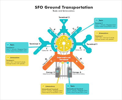 Junn Matsuda Online Portfolio San Francisco International Airport Map