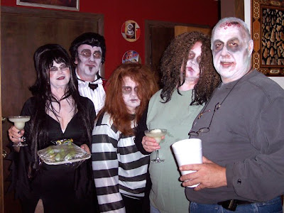 My zombie horde plus Elvira and the Count.