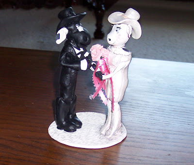 finished cow cake topper
