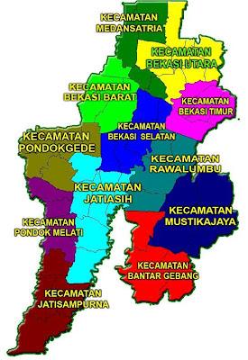 Pusat Informasi Bekasi: Peta Wilayah Kota Bekasi