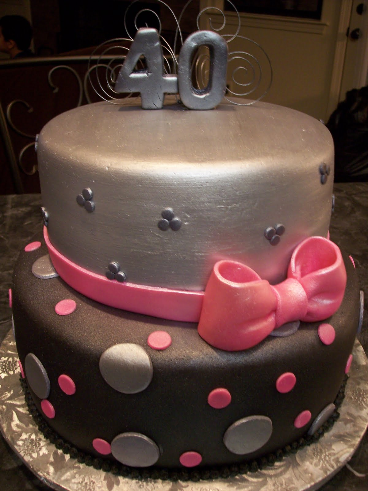 Pink and Silver Cakes