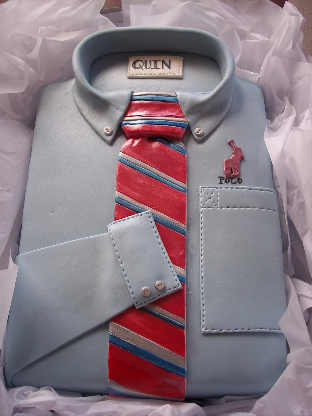 Mymonicakes Polo Shirt And Tie Cake