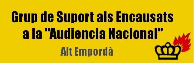 """Grup de Suport als Encausats a la """"Audiencia Nacional"""""""