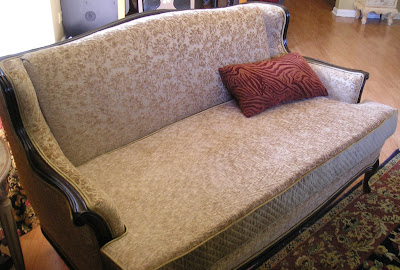 new to me vintage couch reupholstery