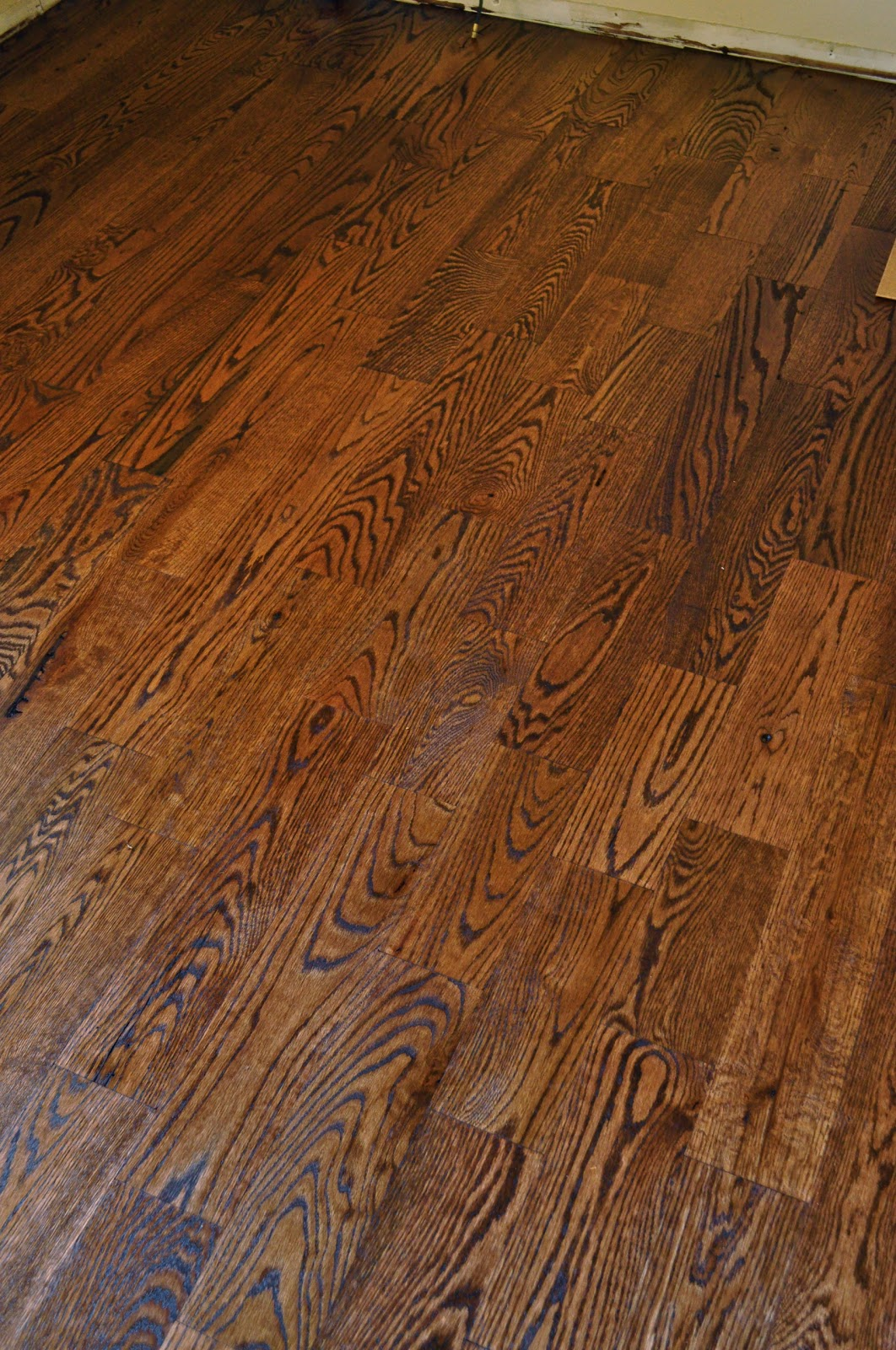 My complete kitchen remodel story for about 12 000 for Rustic red oak flooring