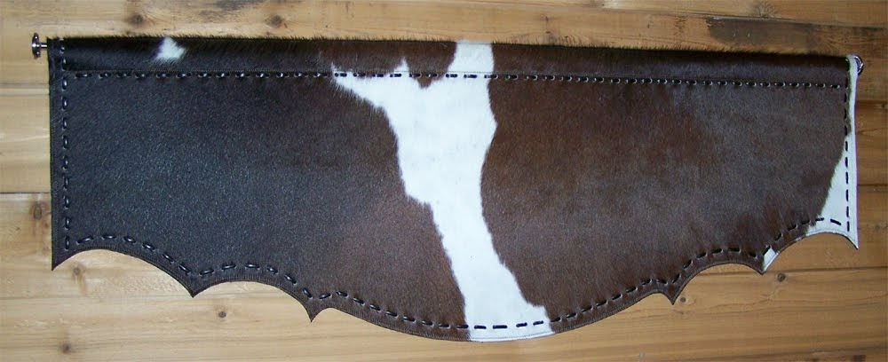 H M Valley Ranch Store Western Decor Cowhide Valance
