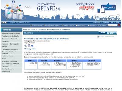 Getafe a domicilio: Recogida de muebles y enseres usados a domicilio en Getafe