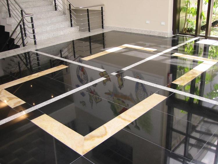 Marmoraria granimax pisos e escadas for Modelos de pisos de granito