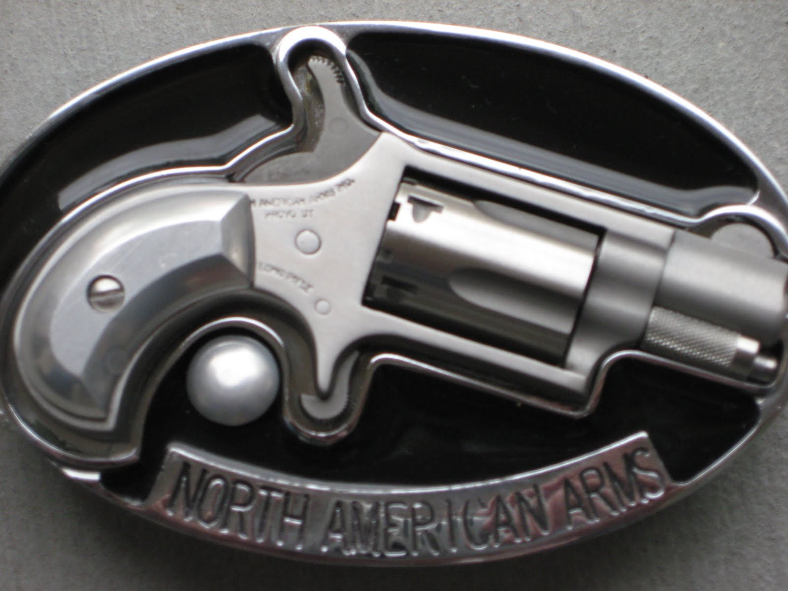 """This picture is of the NAA .22LR revolver in it's """"Belt Buckle"""". An"""