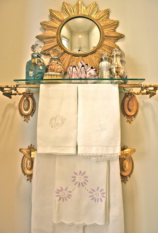 Picture Frame Made into Towel Bar