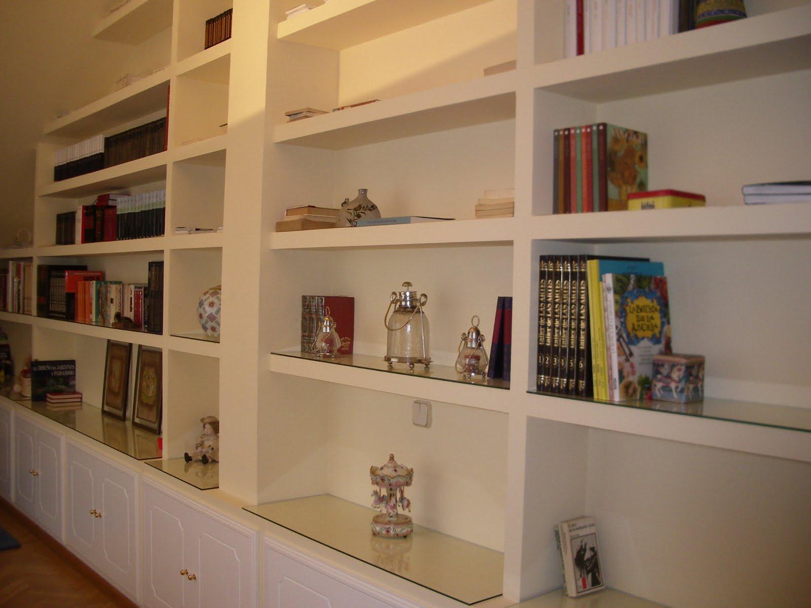 Cetamaz muebles - Estanterias de obra para salon ...