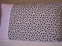 Soccer Print Fleece Pillowcase