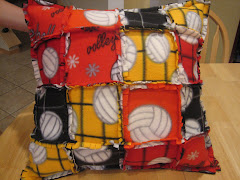 Volleyball Rag Fleece Pillow