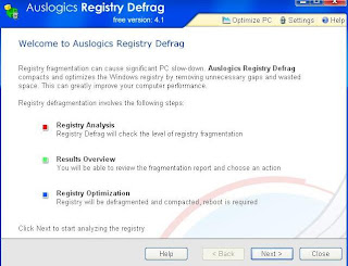 AusLogics Registry Defrag : Main Window