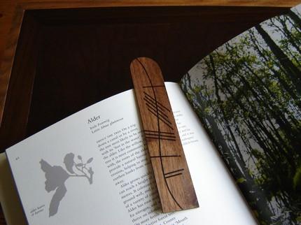 Ogham Personalised Wedding Gift : Personalized Ogham Bookmarks