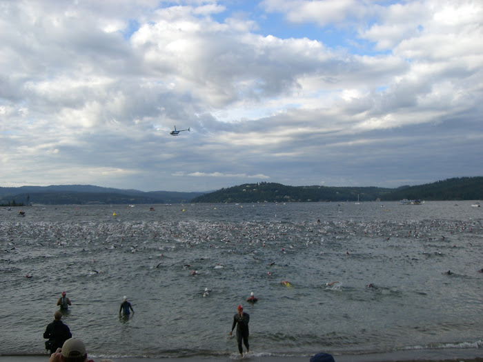 IRONMAN COUEUR D'ALENE MASS SWIM START
