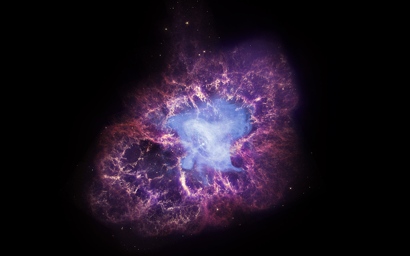 The remnants of a star that exploded and that appeared in Earth's sky almost a thousand years ago.