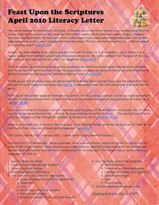 April 2010 Literacy Letter