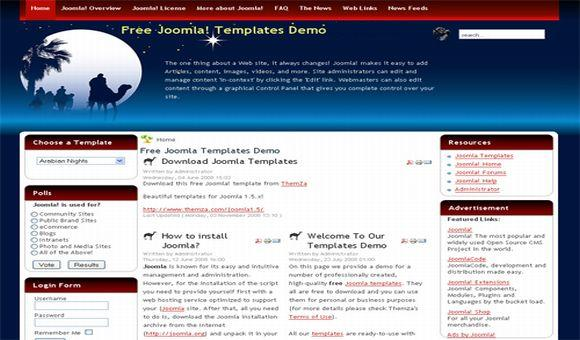 Desert Arabian Blue Red Joomla Template