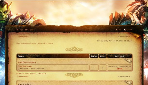 world of warcraft forum phpbb template scriptmafia org download