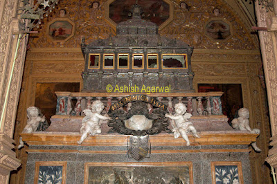 The body of St. Francis Xavier in the Basilica of Bom Jesus in Goa