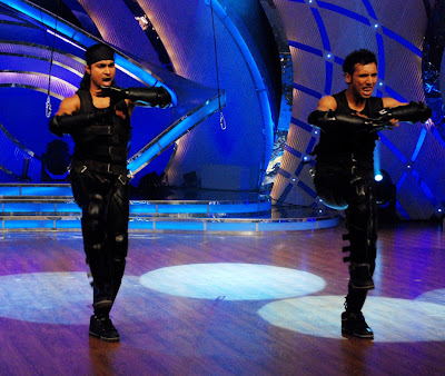 Handsome Hunk Salman dances with Punit on Dance India Dance, the reality contest on Zee TV