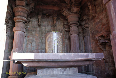 A view of the giant Shiva Lingam at the Bhojpur Temple in Madhya Pradesh