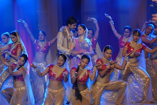Dev & Radhika performing on a romantic number