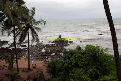Photo of view of Anjuna Beach in Goa, seen from a height