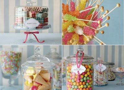 Candy  Wedding Reception on Gypsy Red  Beginning Ideas For Wedding Candy Bars