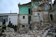 Il crollo di un edificio, quartiere San Girolamo in Bari